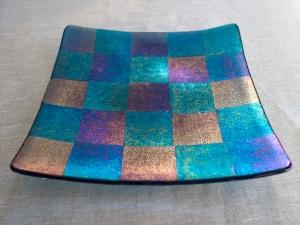 Iridescent steel blue