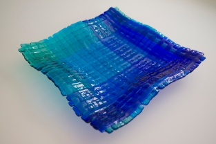 Ombre woven glass plate