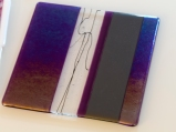 Iridescent purple plate