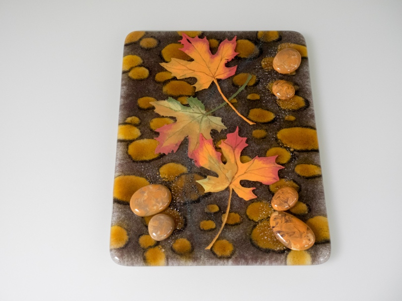 Hand-painted leaves