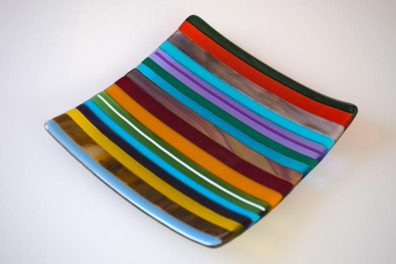 Multi-striped 8x8 plate