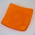 Light orange square plate