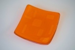 Light orange square plate