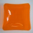 "Light orange square bowl (5x5"")"
