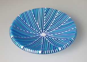 Blue Art Deco Bowl