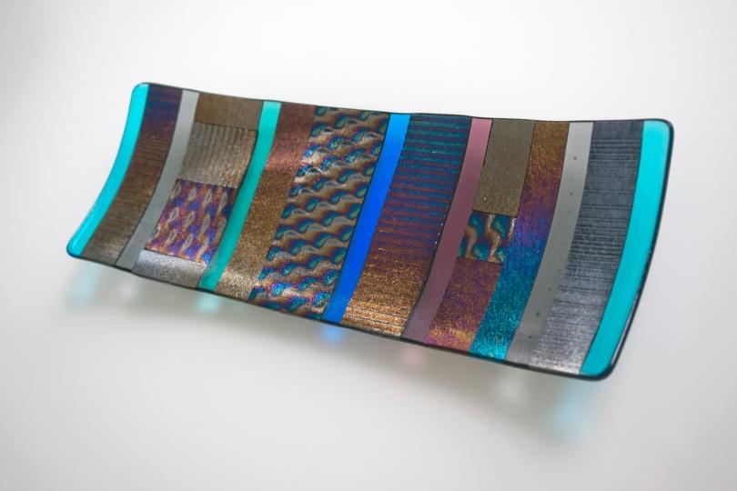 Iridescent platter