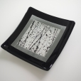 Framed square plate
