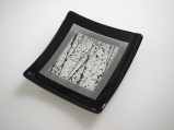 Framed square plate