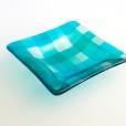 """5x5"""" square plaid dish"""