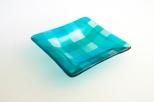 "5x5"" square plaid dish"