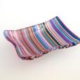 """3x4"""" dip bowl in colorful stripes"""