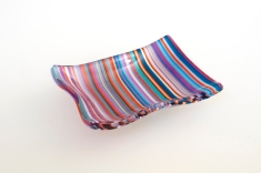"3x4"" dip bowl in colorful stripes"