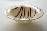 """9.5"""" steel blue striped bowl"""