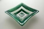 "11.5"" green square bowl"