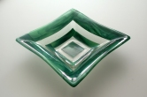"11.5"" green square bowl"