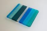 Wavy blue trivet