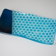 Steel blue polka dots