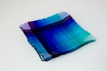 """7.5"""" woven plate in blues and purples"""