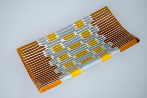 """Honeycomb"" strip constructed platter"