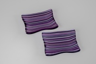 """3x4"""" dishes of 2mm lines of purples"""