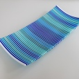 "14"" strip constructed platter in a range of beautiful blues"