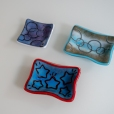 "Small 3x3 and 3x4 ""batik"" dishes"