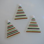 Holiday striped tree ornaments