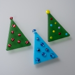 Dotted tree ornaments