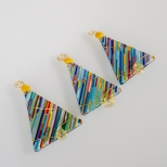 Multi-colored diagonal tree ornaments